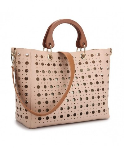 Dasein Perforated Shoulder Handbag Satchel