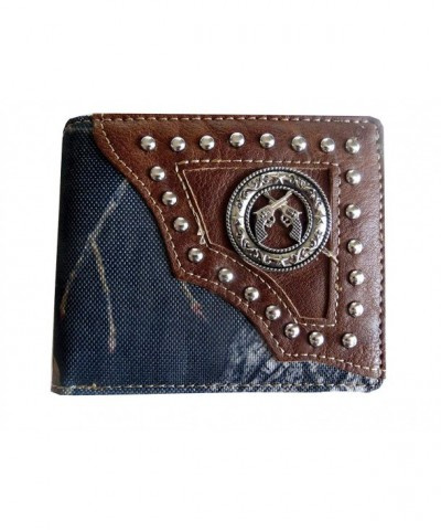 Western Leather Bifold Wallet Double