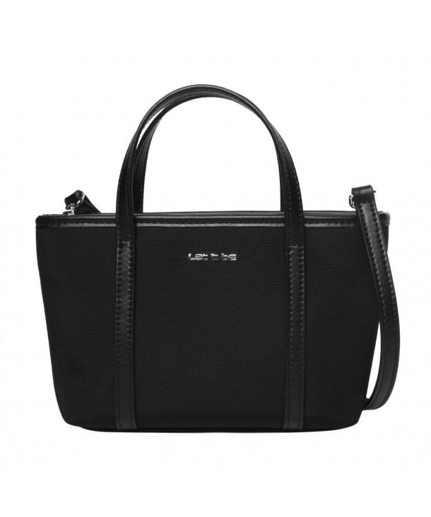 38125a199cb8 Let It Be Cute Mini Tote Crossbody Handbags for Women Mini Black ...