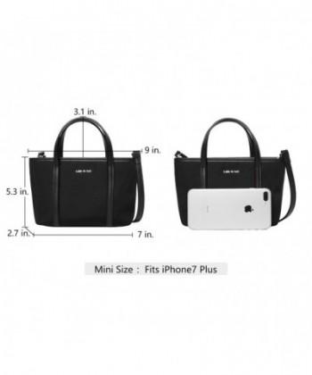 7be08728bd5 Let It Be Cute Mini Tote Crossbody Handbags for Women Mini Black ...