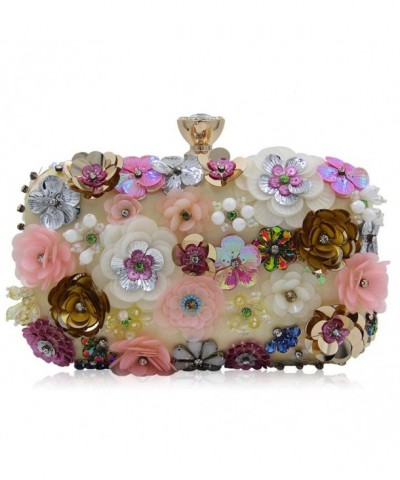 Flada Colored Flowers Rhinestone Handbag