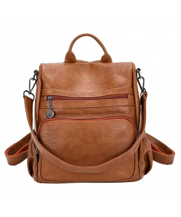 Women Backpack Purse Bag Handbag Anti Theft Travel Rucksack Shoulder Las Brown Cv18gl26ex6