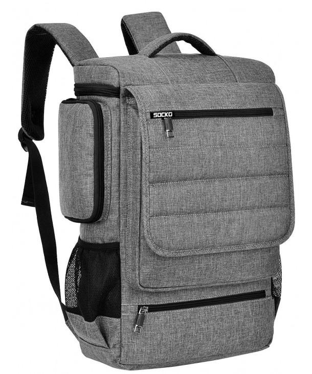 Backpack BRINCH Multifunctional Backpacks Grey Black