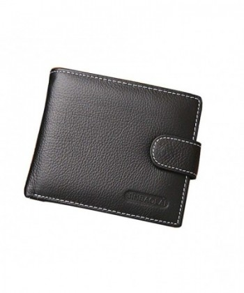 Genuine Leather Trifold Fastener Closure
