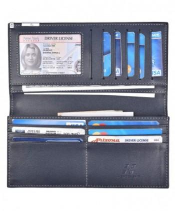Bifold Wallets Leather Wallet Darkblue