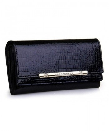Brilliance Genuine Leather Trifold Crocodile