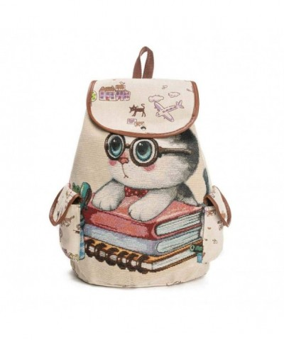 Printing Canvas Drawstring Backpack Shopping