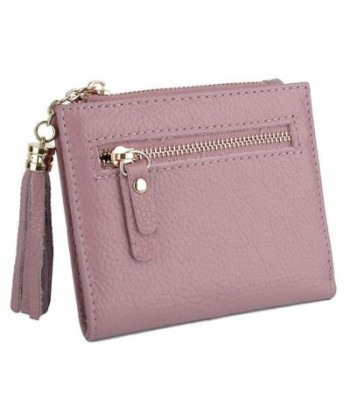 YALUXE Womens Compact Leather Billfold