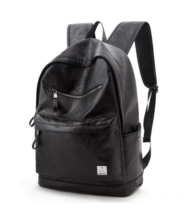Leather Backpack College Computer Rucksack