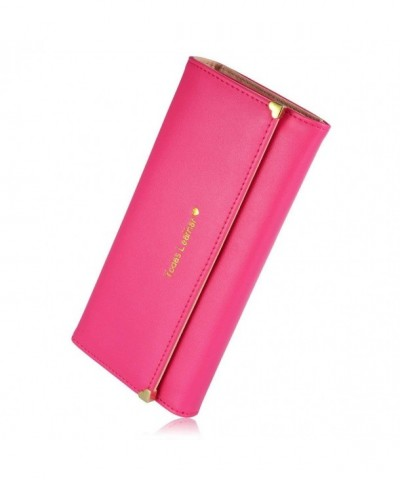 Leather Credit Clutch Holder Rosered