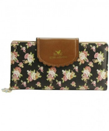 ETIAL Womens Vintage Floral Leather