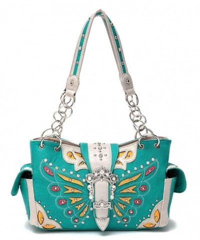 Shoulder Handbags Butterfly Rhinestone Concealed