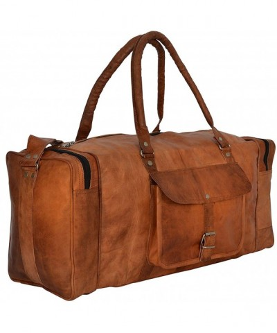 Square Duffel Overnight Weekend Leather