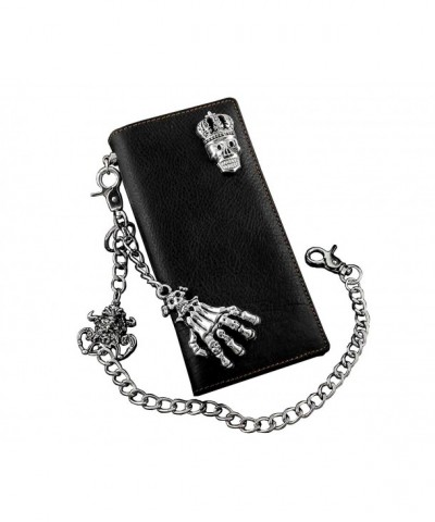 Skull Biker Leather Wallet Jeans