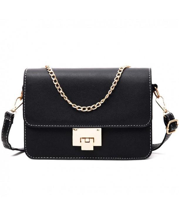 8eac35928d1 Ladies Designer Crossbody Bag Shoulder Bag for Women Small Purses Handbags  - Black - CK18GQ84UN7