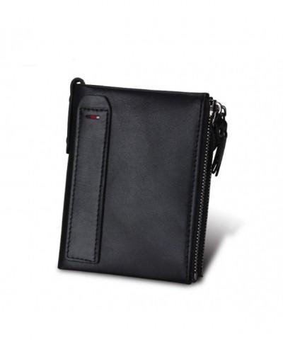 Blocking Vintage Cowhide Leather Pockets