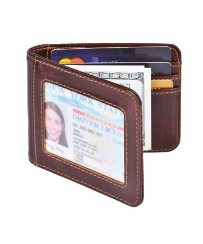 IDEAWIN Bifold Pocket Leather Blocking