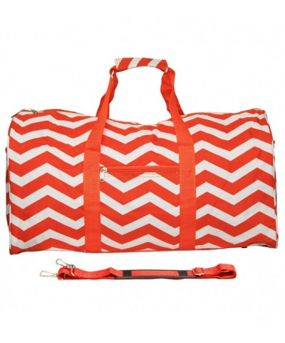World Traveler Duffle Orange Chevron