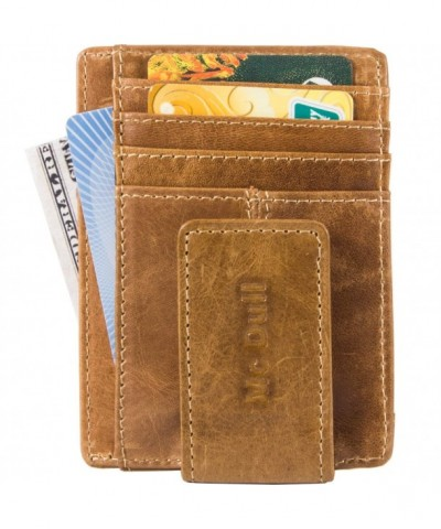 Wallets Minimalist Genuine Leather Blocking