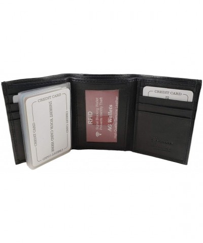 Wallets Blocking Genuine Leather Trifold