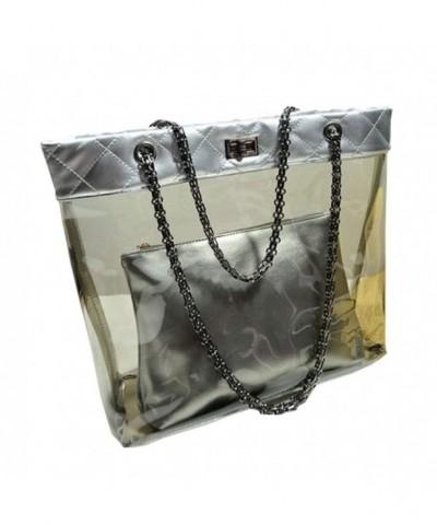 Womens Casual Transparent Handbag Trapeze