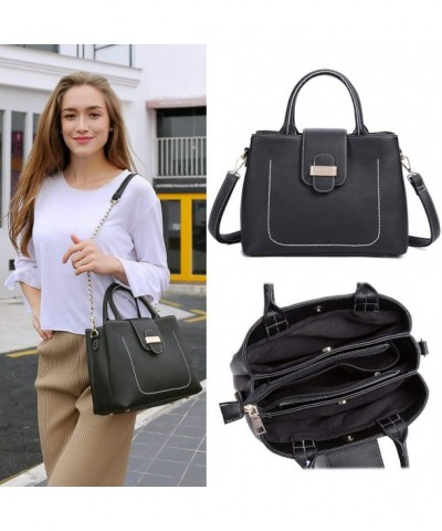 Satchel Handbags Shoulder Leather Compartment
