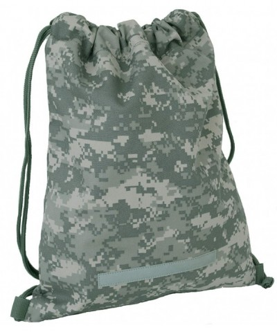 Alpha Camouflage Drawstring Backpack Digital