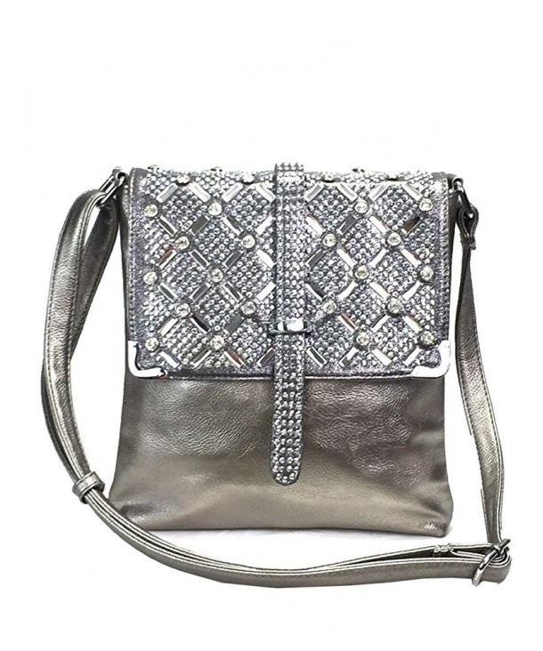 Zzfab Rhinestone Sparkle Bling Silver