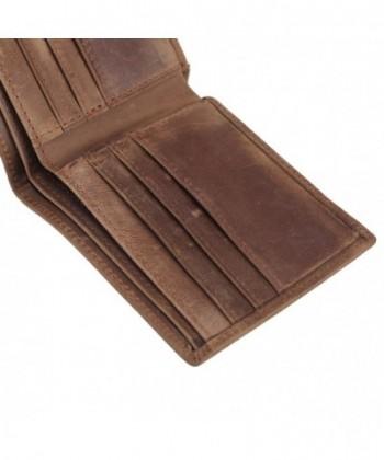 afb2f866beb2 Men's RFID Blocking Vintage Italian Genuine Leather Slim Bifold Wallet  Handmade - Brown-Large - CY11SKQ21XR
