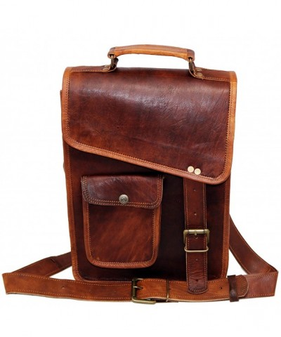 Leather messenger shoulder vintage satchel