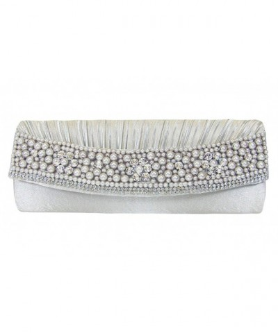 Pearls Rhinestones Evening Shoulder Handbag