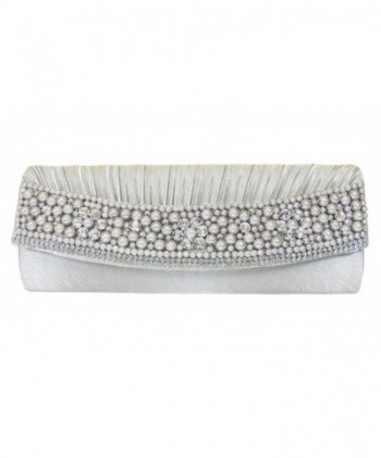 Pearls Rhinestones Evening Shoulder Handbag