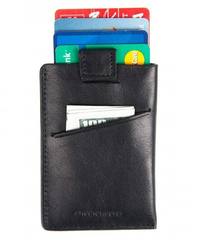 Leather Blocking Pocket Minimalist Wallet
