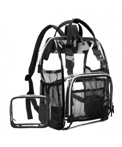 LOKASS Backpack Transparent Multi Pockets Backpacks Trim Adjustable