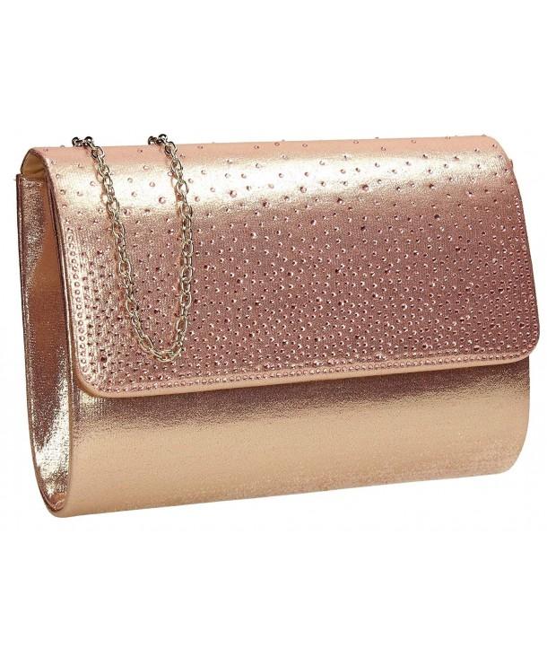 d056e9cd6e Natalie Diamante Metallic Womens Party Prom Ladies Clutch Bag ...