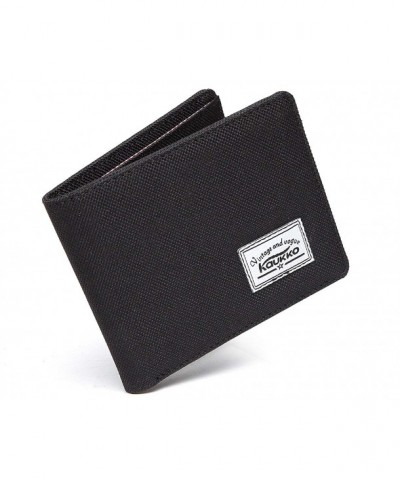 KAUKKO Mens Blocking Bi Fold Wallet