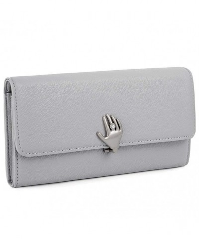 UTO Leather Wallet Capacity Zipper