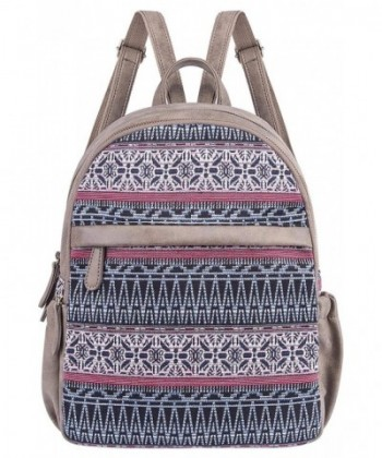 Backpack Canvas Daypack Bookbags Multicoloured