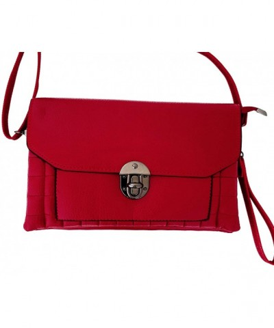 Crossbody Stylish Clutch Wristlet Red