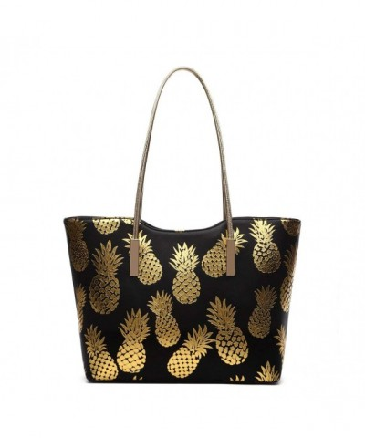 Large Handle Golden Pineapples Print