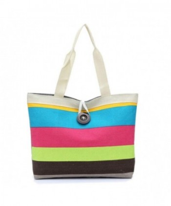 Pocciol Stripes Shopping Shoulder Convenient