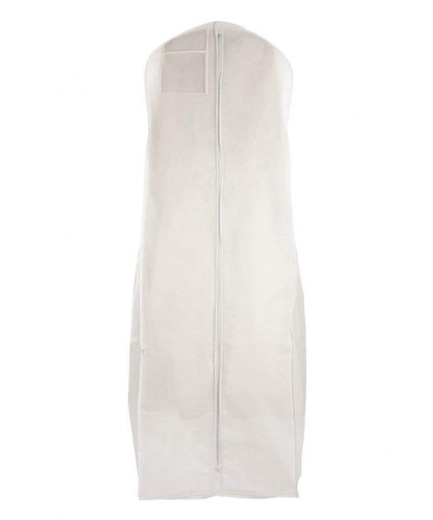 Breathable X Large Wedding Gown Garment Bag White 72 Long With 20