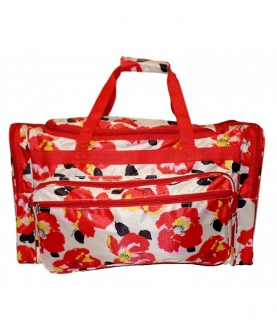 Fashion Print Travel Duffle Flowers