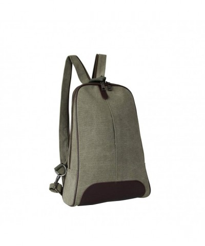 Mad Style Canvas Stylish Backpack Army