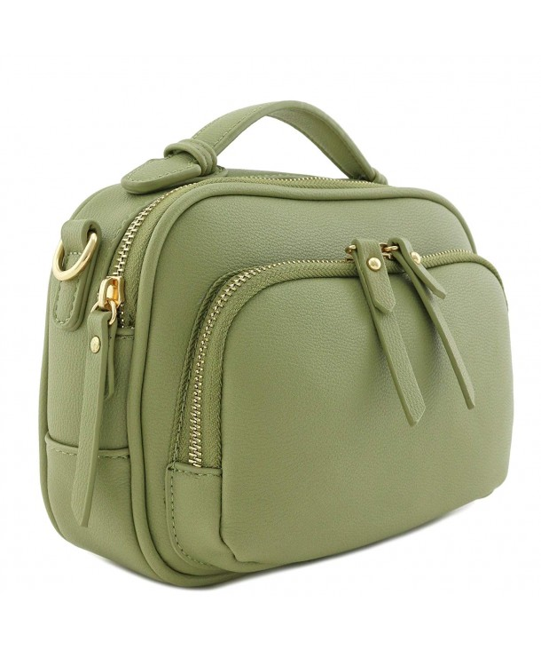 6e3da3866c1fa Top Handle Mini Satchel Bag Crossbody Purse - Sage - CC18GLWCZD4
