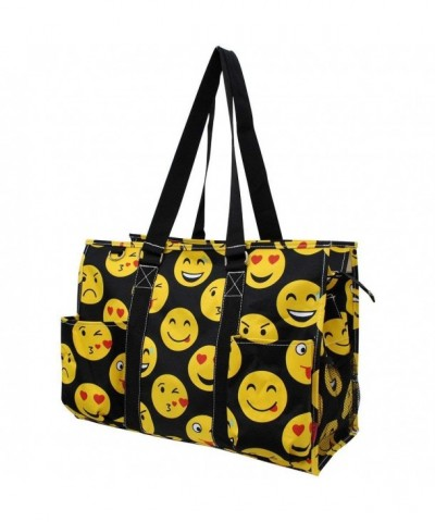 Emoji Faces Print Zippered Organizer