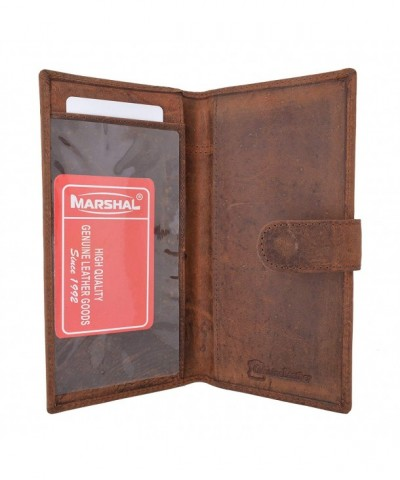 Vintage Genuine Leather Blocking Checkbook