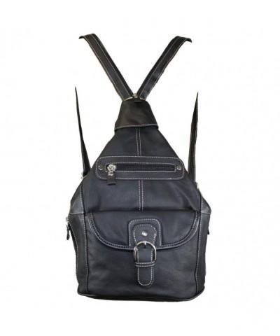 Genuine Leather Convertible Shoulder Backpack
