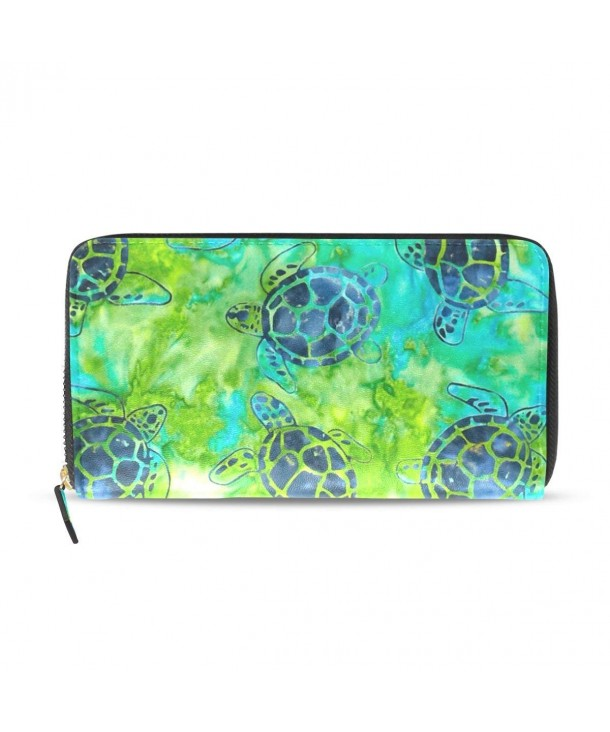 WellLee Turtle Leather Clutch Wallet