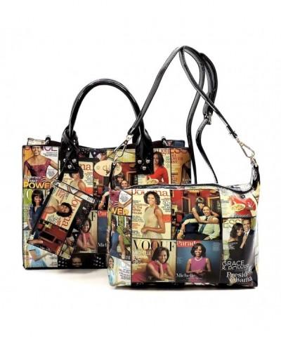 magazine collage crossbody Michelle handbag